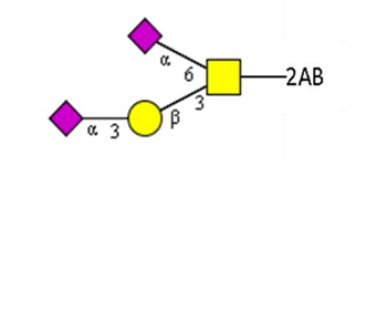 Diasialylated core 2 glycan
